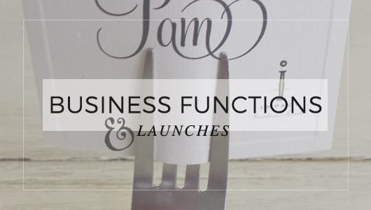 Business Functions and Launches ~ Little Works Designer Stationery
