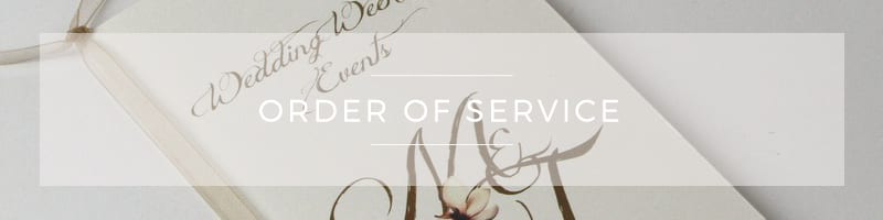 Wedding Stationery ~ Order of Service