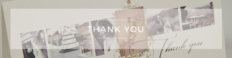 Wedding Stationery ~ Thank You
