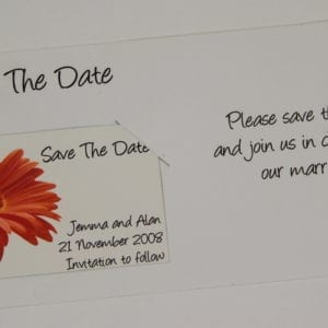WSD4 - Save the Date Magnet on DL Card
