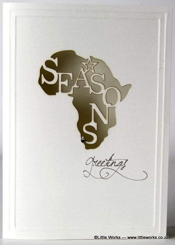 Little works seasons greetings african map m4hsunfo