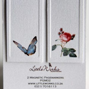 PGM02 - Two Magnetic Page Markers - Butterfly & Rose