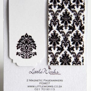 PGM07 - Two Magnetic Page Markers - Damask Pattern