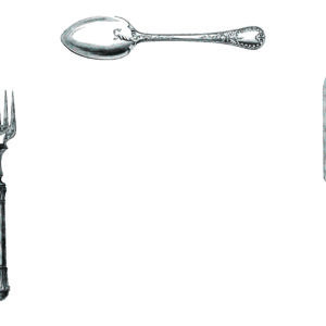 PM15 - A Pack of 12 Cutlery Place Mats, no Plate