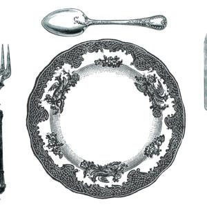 PM17 - A Pack of 12 Cutlery and Plate Place Mats