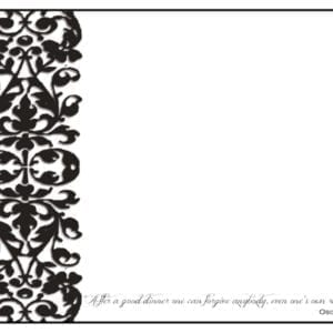 PM02 - 12 Different Food Quotes - A Pack of 12 Place Mats