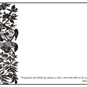 PM03 - 12 Different Food Quotes - A Pack of 12 Place Mats