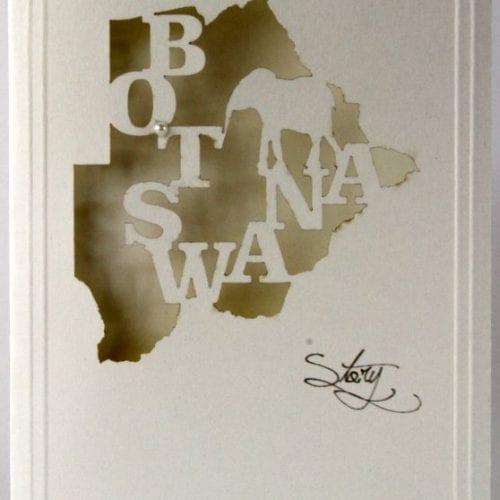 LCBSEM - Botswana Map with Elephant - Munken