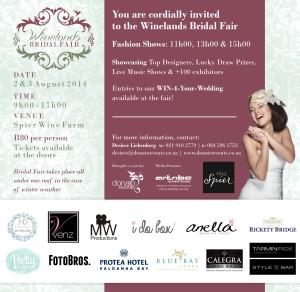 Invite - Winelands Bridal Fair (2362 x 2303)
