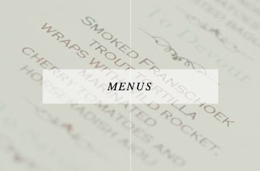 Menus ~ Stationery ~ Weddings ~ South Africa