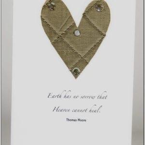 SC - Sympathy Card Gold