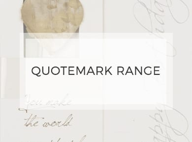 Quotemark Range ~ Greeting Cards ~ Designer Stationery