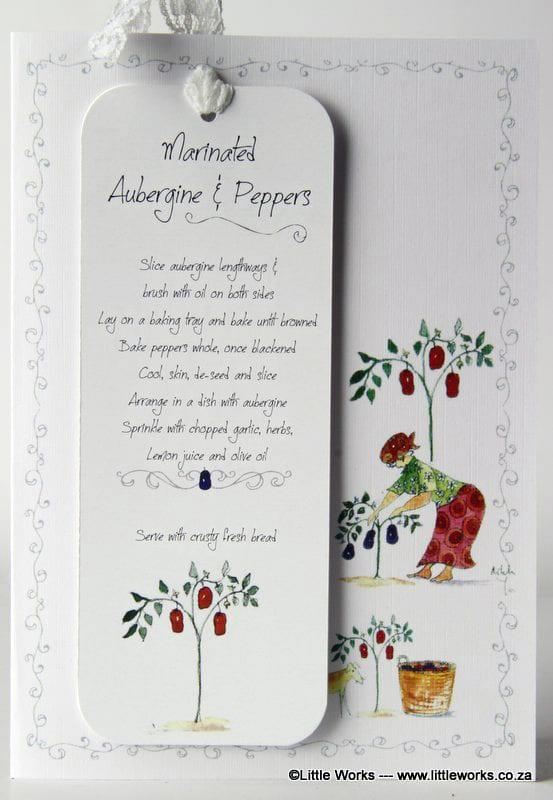RCB6 - Bookmark - Marinated Aubergine & Peppers