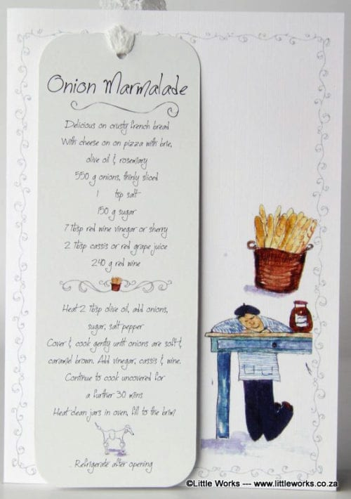 RCB8 - Bookmark - Onion Marmalade