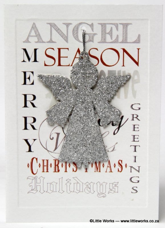 XDAR - Merry Christmas, Season Greetings - Silver Angel - Removable Decoration