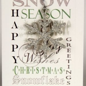 XDF - Happy Christmas, Season Greetings - Silver Snow Flake - Removable Decoration