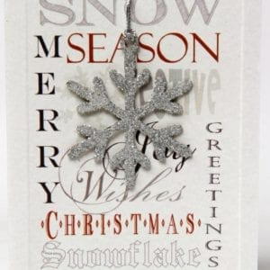 XDFR - Merry Christmas, Season Greetings - Silver Snow Flake - Removable Decoration