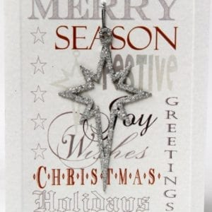 XDSS - Merry Christmas, Season Greetings - Silver Star - Removable Decoration