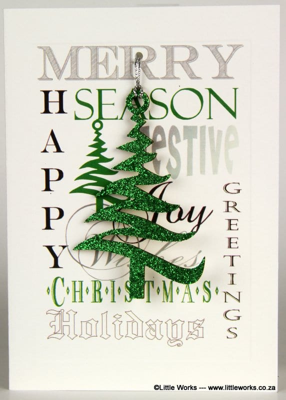 XDT - Happy Christmas, Season Greetings - Green Christmas Tree - Removable Decoration
