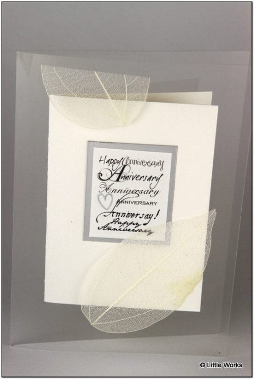 AAS - Silver Anniversary Greeting Card