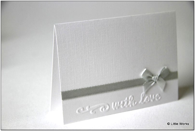 P005 - Grey Ribbon and Bow with Love