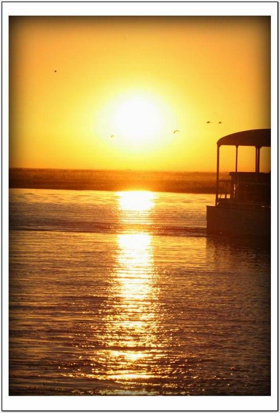 LA - Botswana River Sunset