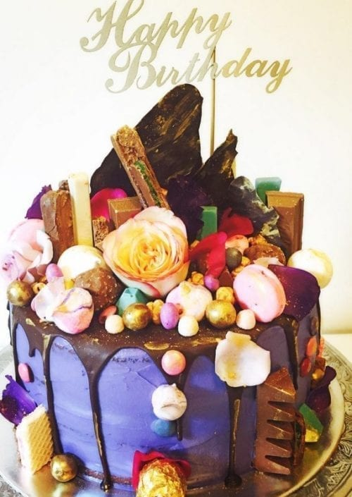 CT10 - Happy Birthday Cake Topper