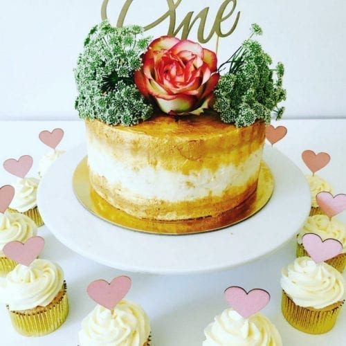 CT11 - One with Heart Cake Toppers