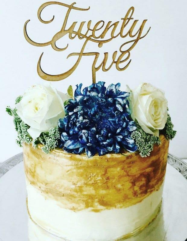 CT13 - Twenty Five Cake Topper
