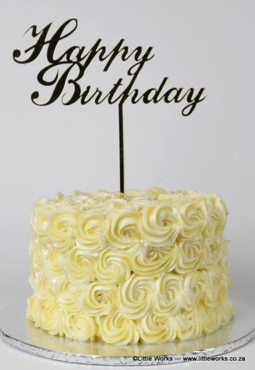 CT18 - Happy Birthday Cake Topper