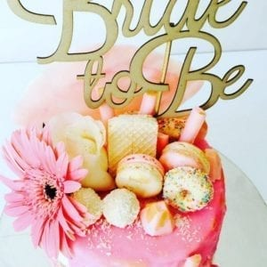 CT6 - Bride to Be Cake Topper