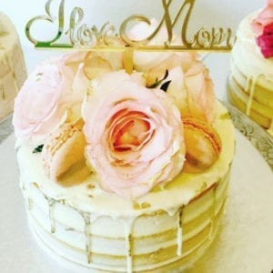 CT7 - I Love Mom Cake Topper