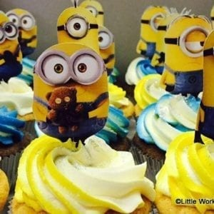 CTH19 - Minions Cupcake Toppers