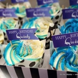 CTH21 - Happy Birthday Cupcake Flags