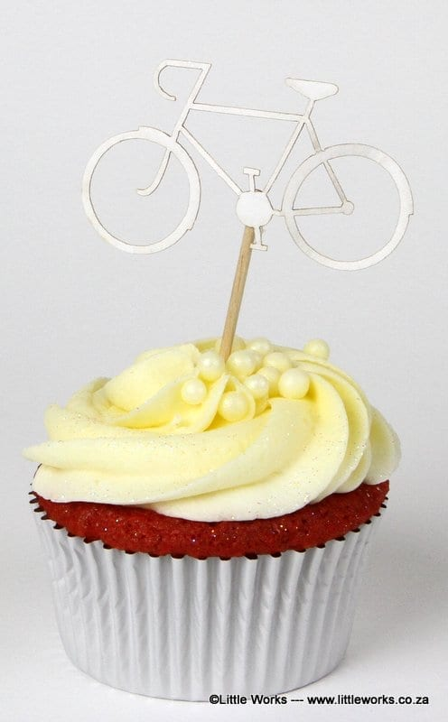 CTH8 - Bicycle Cupcake Topper