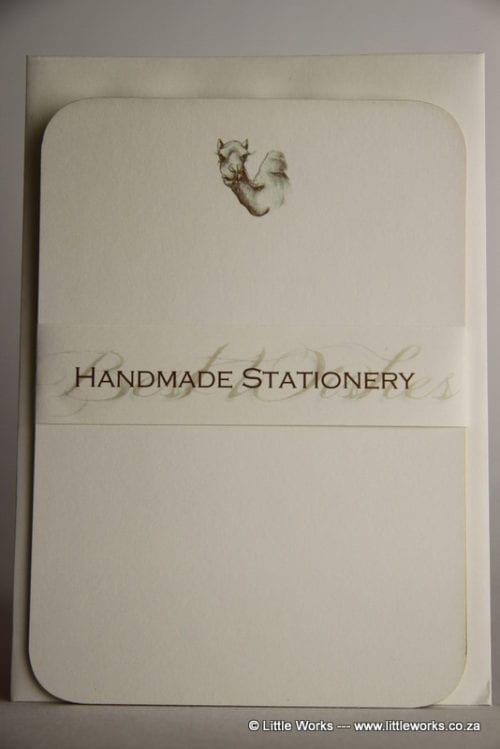NOT13 - Handmade Notelets - Camel - Pack of 6 with matching Envelopes
