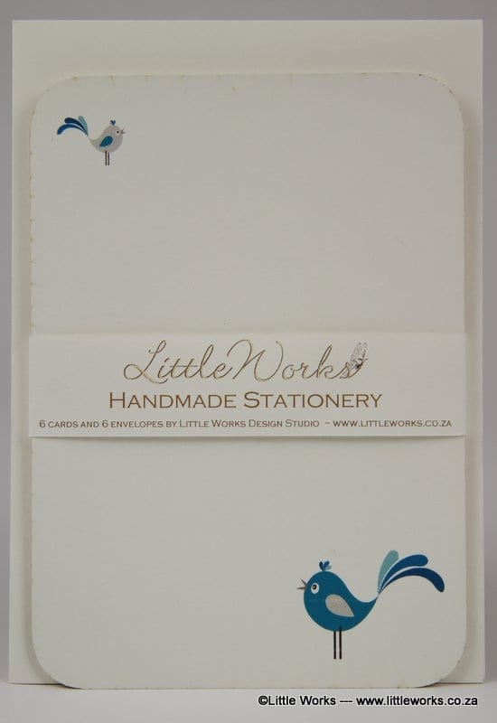 NOT23 - Handmade Notelets - Tweetie Birds - Pack of 6 with matching Envelopes