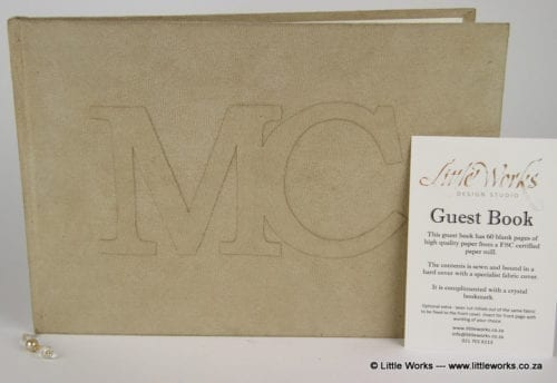 PGB3 - Faux suede Guest Book with Initials