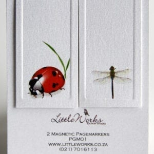 PGM01 - Two Magnetic Page Markers - Dragonfly & Ladybird