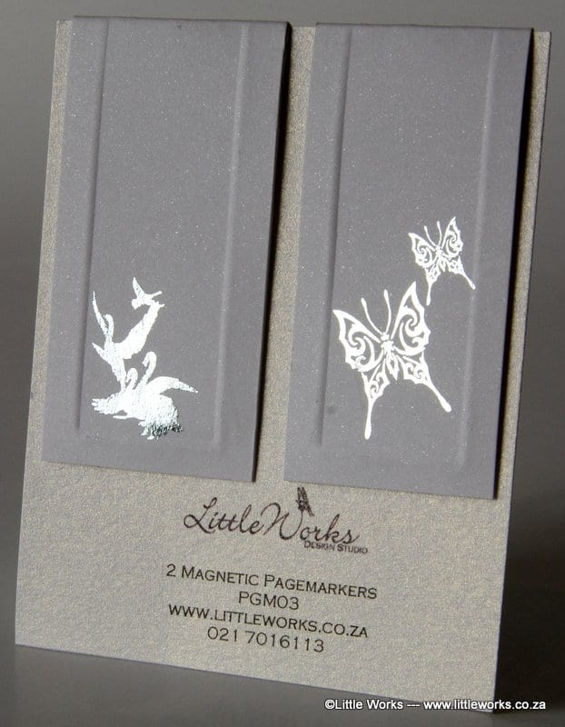 PGM03 - Two Magnetic Page Markers - Butterfly & Swan