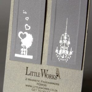 PGM06 - Two Magnetic Page Markers - Chandelier & Kissing Couple
