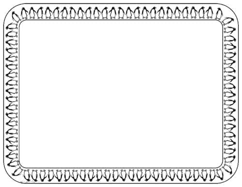 PM11 - Penguin Border - A Pack of 12 Place Mats
