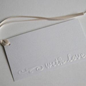 "GT11 - Gift Tags Embossed ""With Love"" [Pack of 6]"