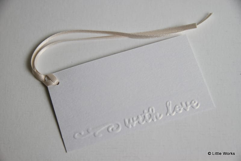 """GT11 - Gift Tags Embossed """"With Love"""" [Pack of 6]"""