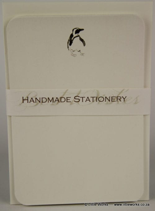 NOT1 - Handmade Notelets - Penguin - Pack of 6 with matching Envelopes