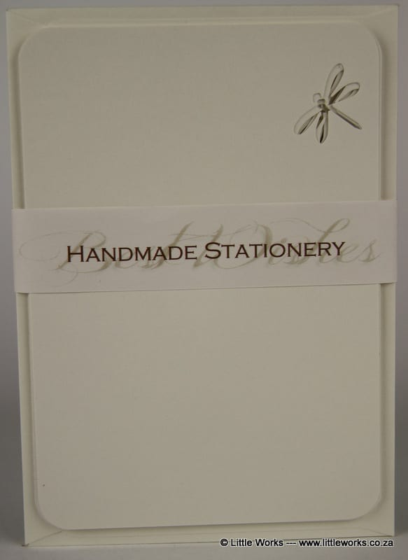 NOT5 - Handmade Notelets - Dragonfly Cut Out - Pack of 6 with matching Envelopes