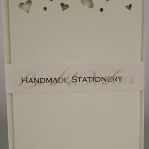 NOT6 - Handmade Notelets Hearts Cut Out - Pack of 6 with matching Envelopes