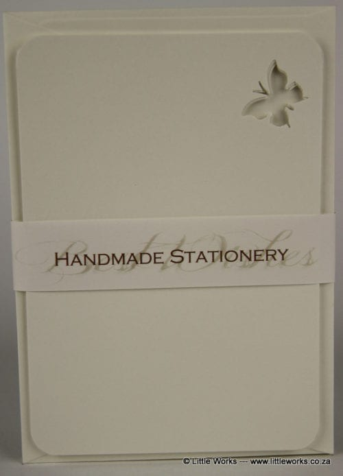 NOT7 - Handmade Notelets - Butterfly Cut Out - Pack of 6 with matching Envelopes