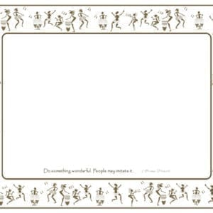 PM05 - 6 Different African Proverbs - A Pack of 12 Place Mats, 2 of a kind