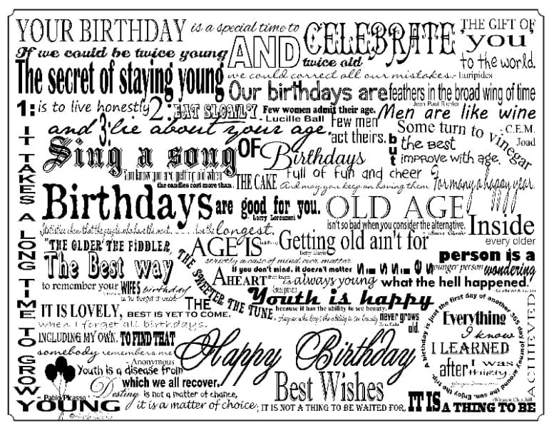 PM06 - A Pack of 12 Birthday Place Mats - All the same design